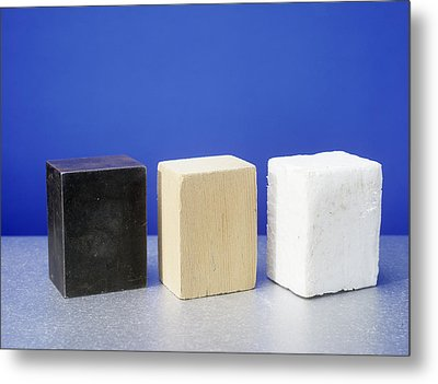 Equal Volumes Of Different Materials Metal Print by Andrew Lambert Photography