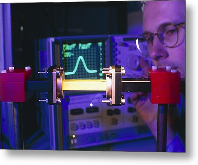 Equipment For Superluminal Microwaves Metal Print by Volker Steger