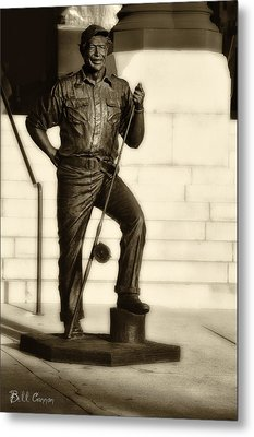 Ernest Hemingway The Old Man And The Sea Metal Print by Bill Cannon