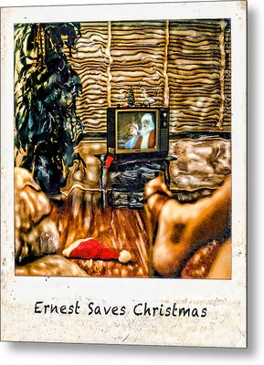 Ernest Saves Christmas Metal Print by Lou  Novick