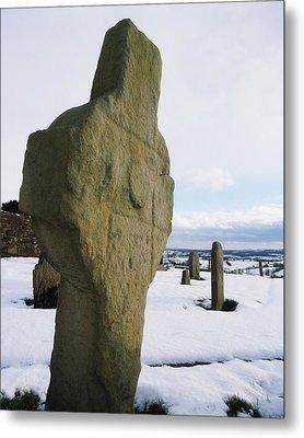 Errigal Keerouge Cross, St Kierans Metal Print by The Irish Image Collection