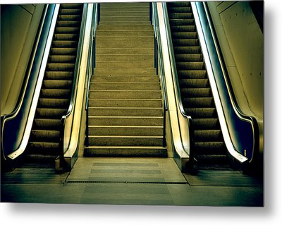Escalators And Stairs Metal Print by Joana Kruse