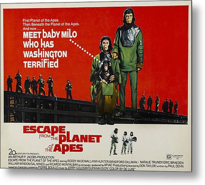 Escape From The Planet Of The Apes, L-r Metal Print by Everett