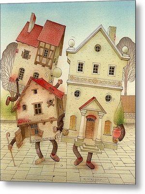 Escaped Houses Metal Print by Kestutis Kasparavicius