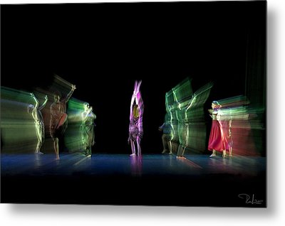 Metal Print featuring the photograph Escaping Dancers by Raffaella Lunelli