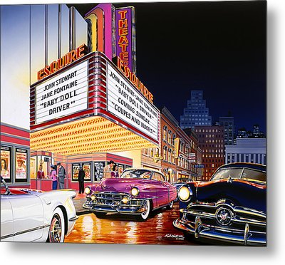 Esquire Theater Metal Print by Bruce Kaiser