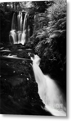 Ess-na-crub Waterfall On The Inver River In Glenariff Forest Park County Antrim Northern Ireland Metal Print by Joe Fox