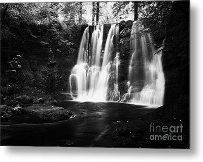 Ess-na-crub Waterfall On The Inver River In Glenariff Forest Park County Antrim Northern Ireland Uk Metal Print by Joe Fox