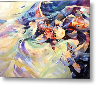 Metal Print featuring the painting Ethereal Koi 2 by Rae Andrews