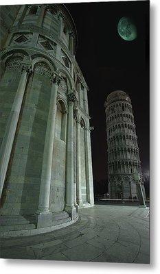 Ethereal Moonlight Scene Of Duomo Santa Metal Print by Carson Ganci