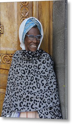 Ethiopia-south Orthodox Christian Woman Metal Print by Robert SORENSEN