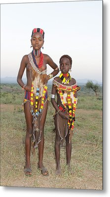 Ethiopia-south Sisters Metal Print by Robert SORENSEN