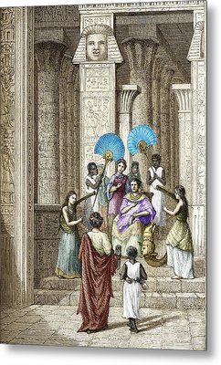 Euclid And Ptolemy Soter, King Of Egypt Metal Print by Sheila Terry