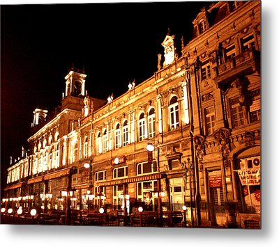 Europe At Night Metal Print by Lucy D