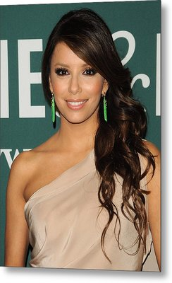 Eva Longoria At In-store Appearance Metal Print by Everett
