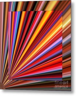 Even Lines Get Colorful Metal Print by Fania Simon