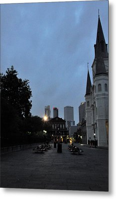 Evening At The Cathedral Metal Print by Helen Haw