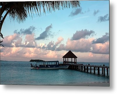 Metal Print featuring the photograph Evening Clouds by Shirley Mitchell
