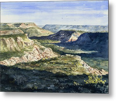 Evening Flight Over Palo Duro Canyon Metal Print by Sam Sidders