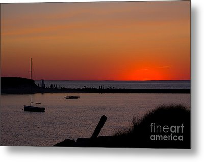 Evening Harbor Silhouette Metal Print by Douglas Armstrong