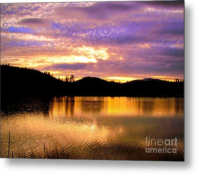 Metal Print featuring the photograph Evening Lake Britton by Irina Hays