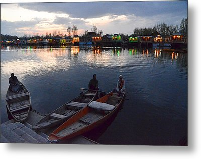 Evening On Dal Lake Metal Print by Fotosas Photography