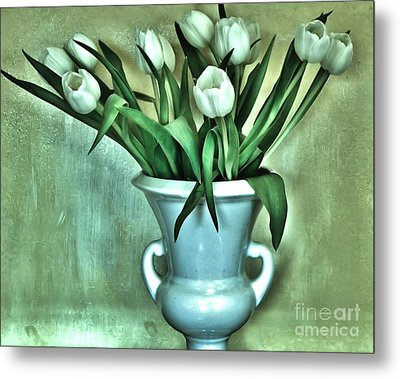 Evening Party Tulips Metal Print by Marsha Heiken