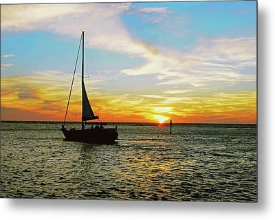 Evening Sailing Metal Print