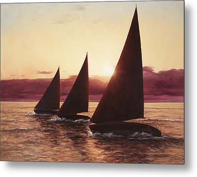 Evening Sails Metal Print