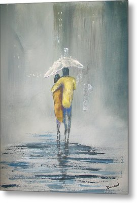Evening Stroll Metal Print by Raymond Doward