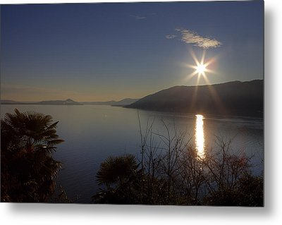 evening sun over the Lake Maggiore Metal Print by Joana Kruse