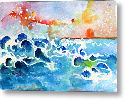 Evening Tide Metal Print by Ginette Callaway