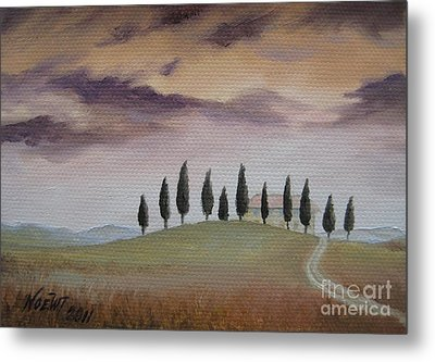 Metal Print featuring the painting Evening Tuscany by Jindra Noewi