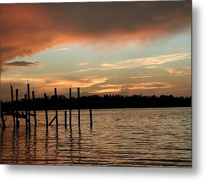 Everglades Sunset Metal Print by Nancy Taylor