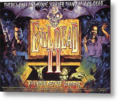Evil Dead II, Left, Bruce Campbell Metal Print by Everett