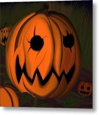 Evil Pumpkin Vine Metal Print by Andre Carrion