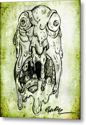 Evil Snot Monster Metal Print