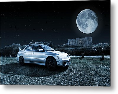 Metal Print featuring the photograph Evo 7 At Night by Steve Purnell