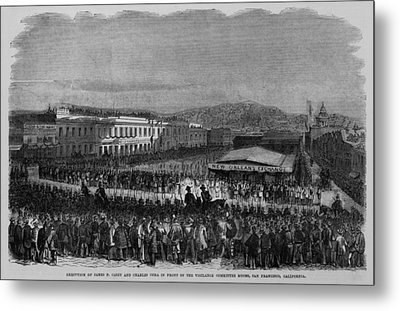 Execution Of James P. Casey And Charles Metal Print by Everett