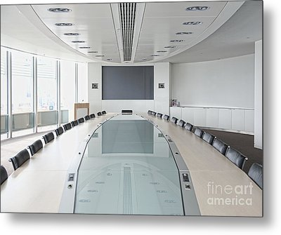 Executive Boardroom Metal Print by Dave & Les Jacobs