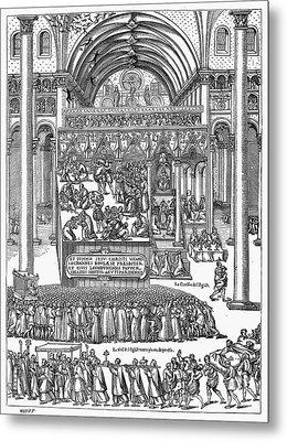Exorcism, 1566 Metal Print by Granger