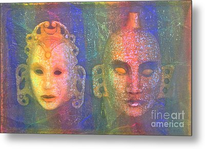 Metal Print featuring the painting Exotic Couple by Nareeta Martin