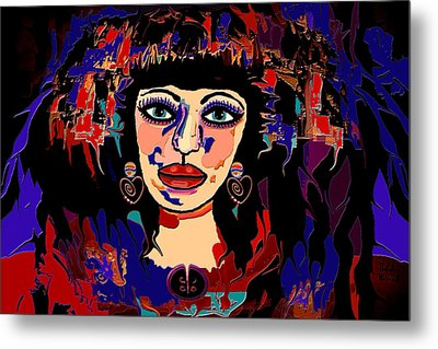 Exotic Woman Metal Print by Natalie Holland