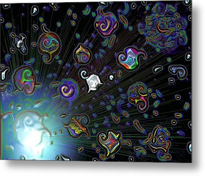 Metal Print featuring the digital art Exploding Star by Alec Drake