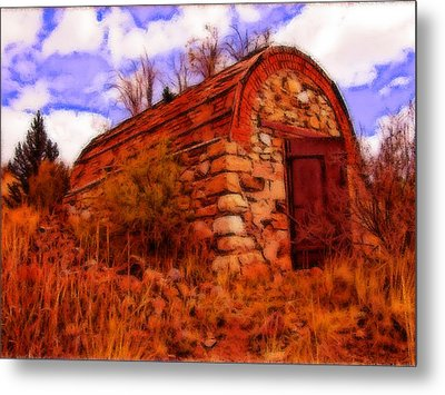 Explosives Shed Metal Print by Howard Perry