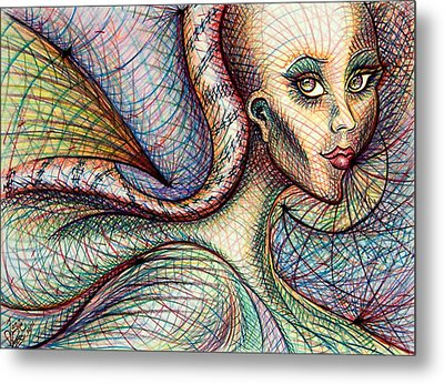 Metal Print featuring the drawing Exposed by Danielle R T Haney