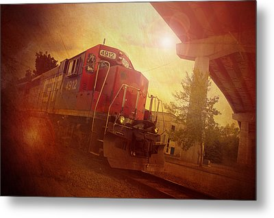 Express Train Metal Print by Joel Witmeyer