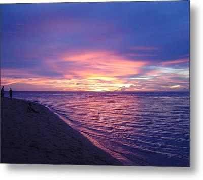 Exquisite Sunset Metal Print by Pat Archer