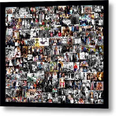 Extended Family Photo Collage Metal Print by Maureen E Ritter