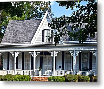 Exterior Of Victorian Style House Metal Print by Susan Leggett